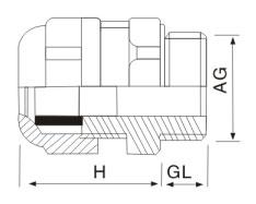 多孔线缆多芯耐高温防爆金属电缆防水接头结构图