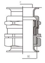 双喇叭口金属电缆防水接头结构图
