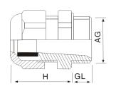 多孔芯尼龙塑料电缆防水固定接头结构图