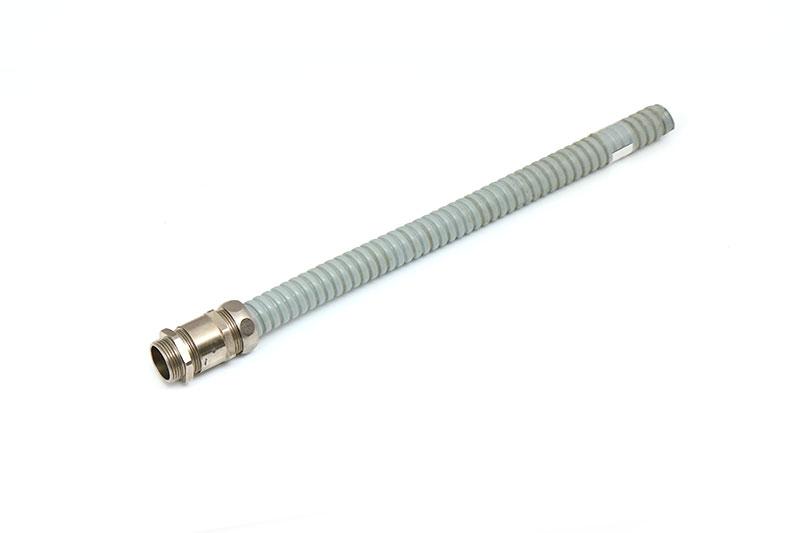 黄铜镀镍软管索头密封防水金属电缆接头带锁紧固定头