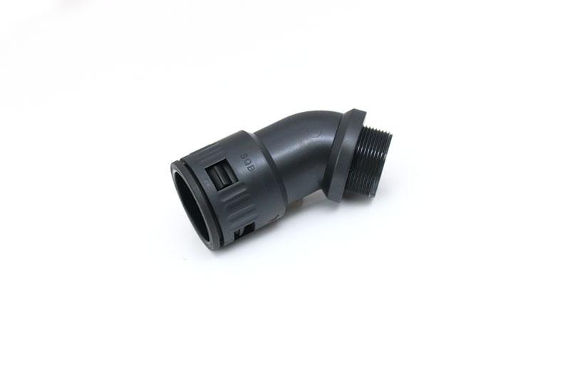 45°快插式软管尼龙塑料电缆防水快速接头