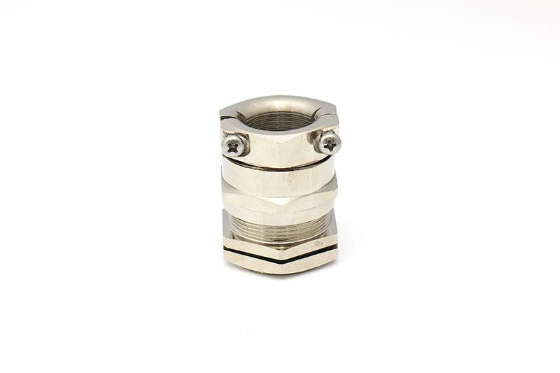 黄铜镀镍双锁紧索头密封金属电缆接头防水固定头格兰头
