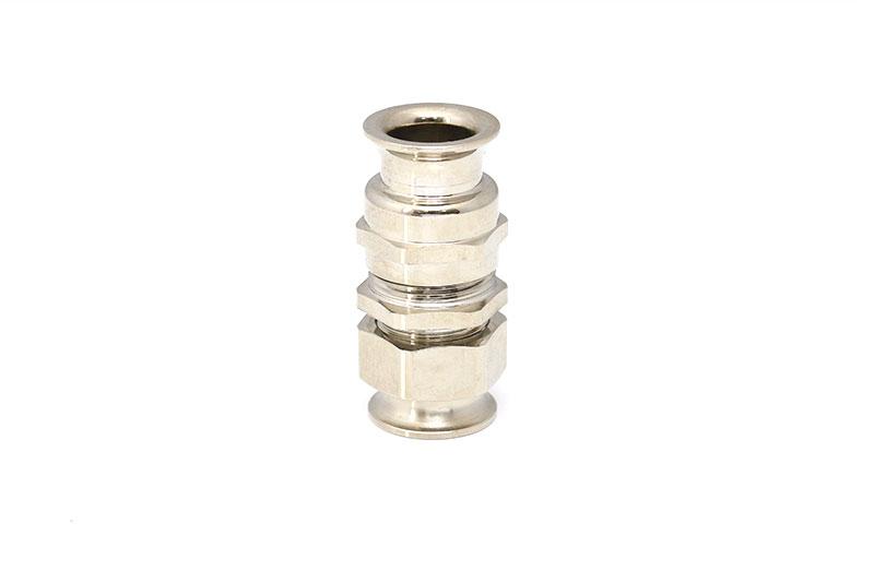 双喇叭口防水电缆电线锁紧接头铜镀镍填料函金属索头规格齐全