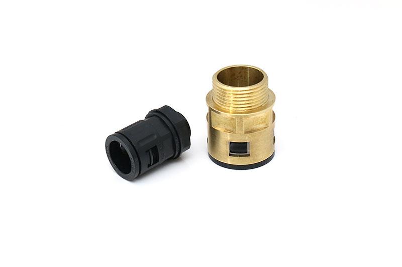 尼龙快插式软管固定索头环保PA66波纹管塑料电缆防水接头