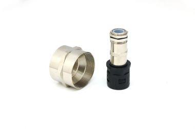 金属内螺纹防水连接套接头螺纹电缆组合件连接件索头
